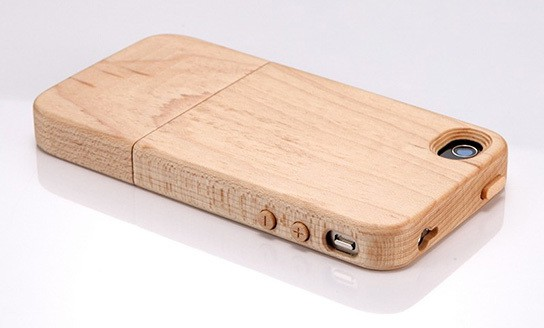 iTimber - iPhone 4 Maple Wood Case and Stand 544x328px