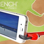 iWrench Stand props up your phone by wrenching it