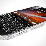 Crystal Rocked's BlackBerry 9900 in platinum and crystal