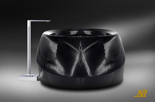 Limited edition carbon fiber bathtub