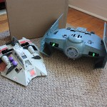 Custom N64 Tie Fighter Mk II and SNES Snow Speeder