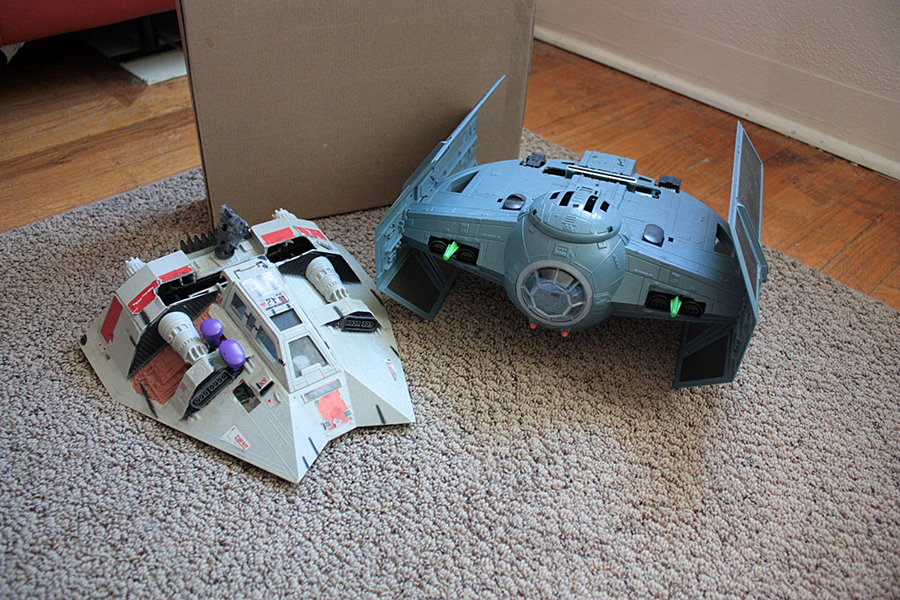 Custom N64 Tie Fighter Mk II and SNES Snow Speeder 900x600px