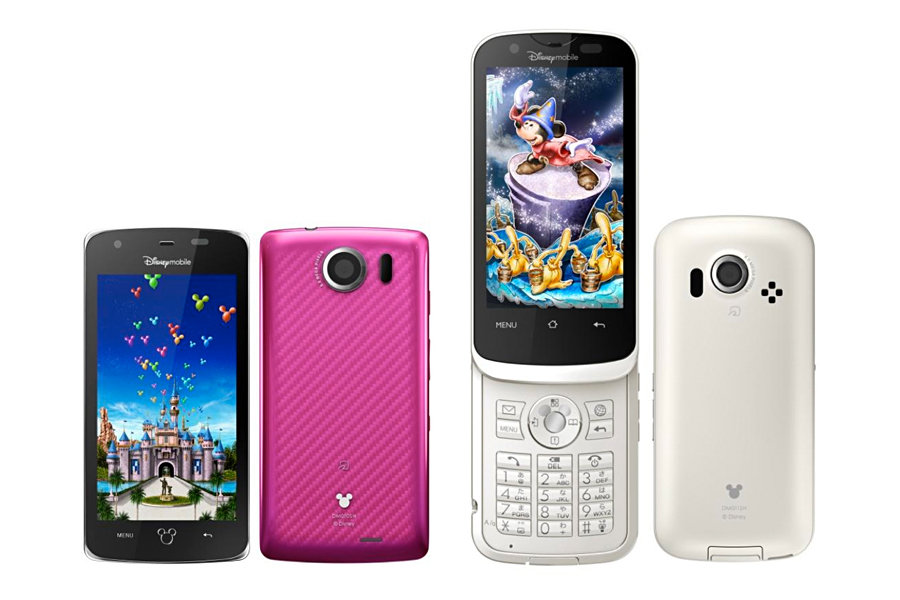 Disney Mobile DM010SH and DM011SH Android Smartphones 900x600px
