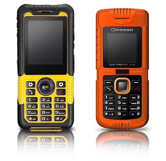 Gresso Extreme X3 and X5 mobile phones 544x528px