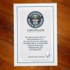 Infiniti M35h Guinness World Record Certificate 600x400px