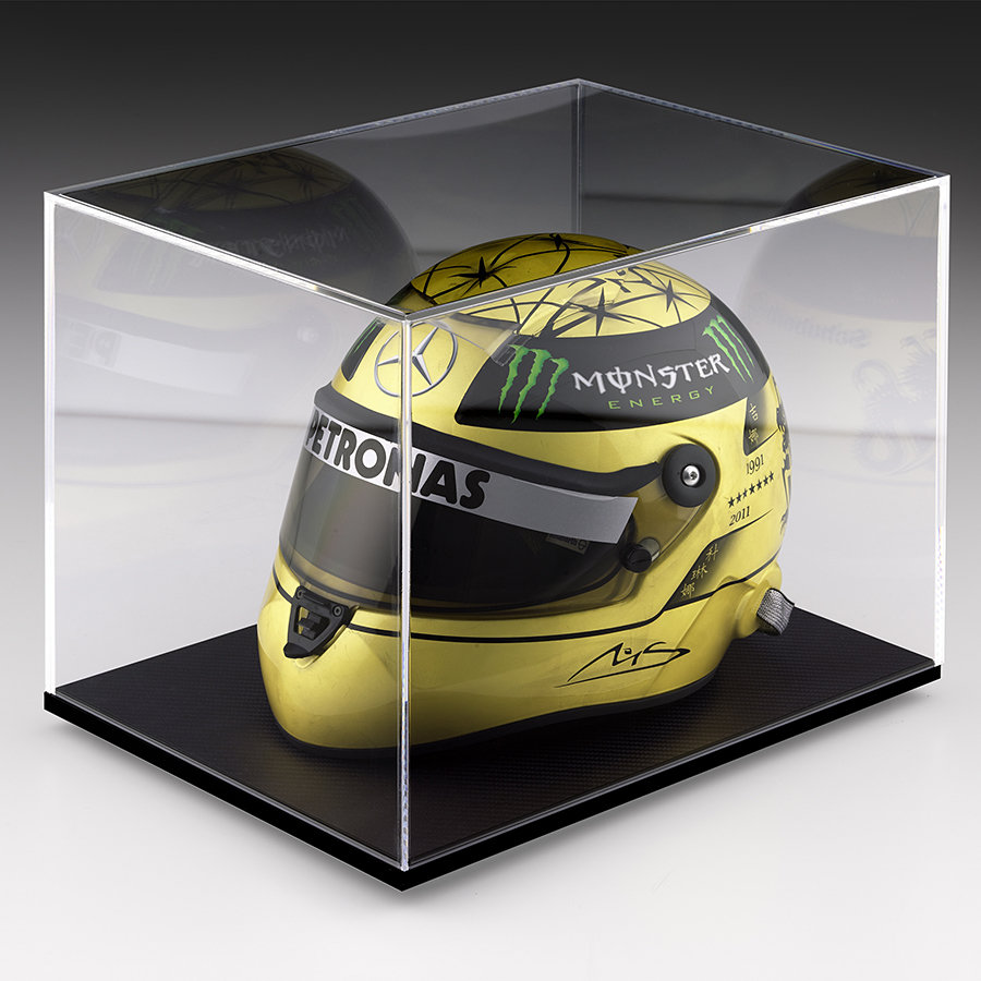 Michael Schumacher 20th Anniversary Gold-Plated Helmet 900x900px