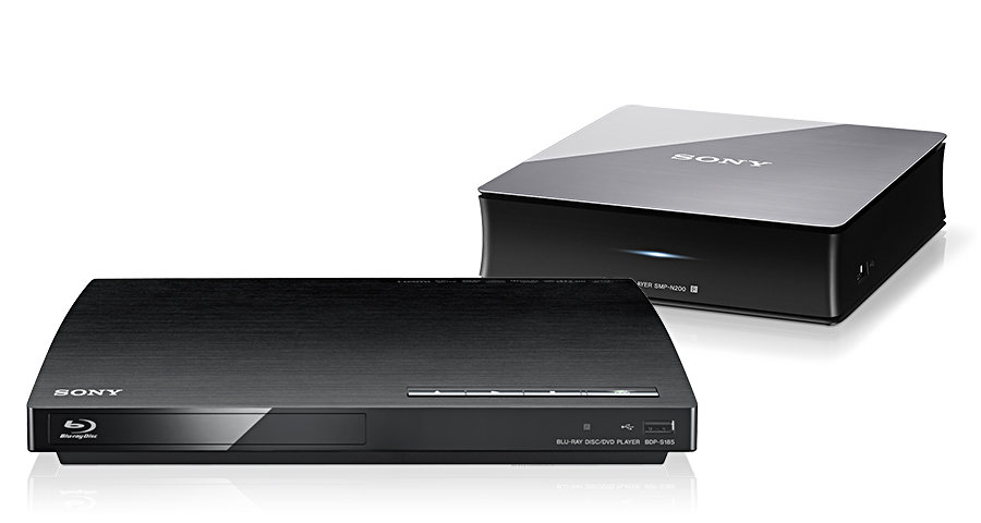 Sony BDP-S185 BluRay player and SMP-N200 network media player 900x450