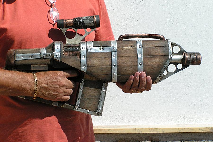 Steampunk Big Daddy Gun by faustus70 900x600px