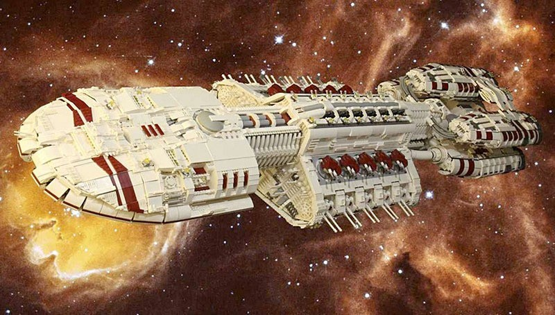 custom LEGO Battlestar Galactica Battle Bezerk 800x454px