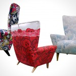 three wing chairs touched by Tokidoki, Zutto & Kozyndan