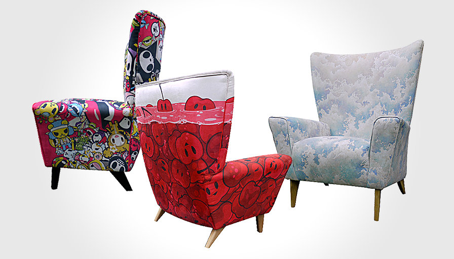 ClickbyArt Limited Edition Wing Chair 896x512px