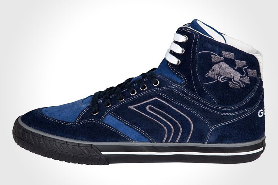 b030186477 GEOX Red Bull Racing Pit Lane Trainer Suede (Navy) | MIKESHOUTS