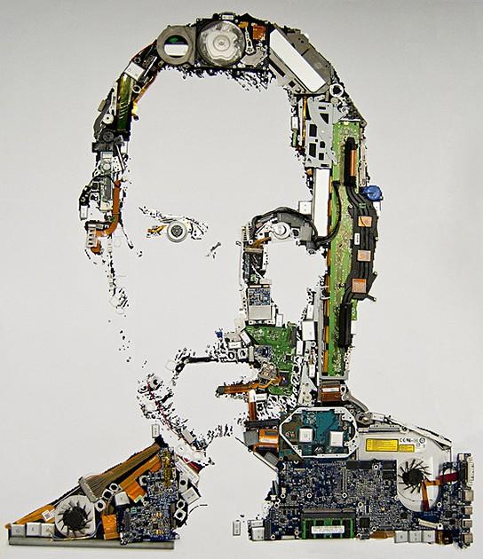 Mint Foundry Steve Jobs Portait 544x630px