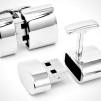 Ravi Ratan Polished Silver WiFi and 2GB USB Cufflinks 900x515px