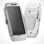 TAG Heuer Link Full Diamonds & White Lizard Smartphone