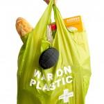 SUCK UK's War on Plastic shopping bag tucks into a grenade