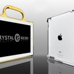 Crystal Rocked iPad 2 24ct Gold Bumper and Chrome Bumper