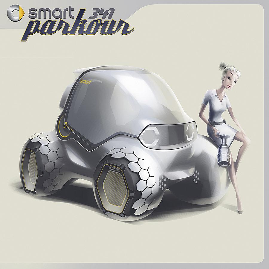 Los Angeles Design Challenge Smart 341 Parkour 900x900px