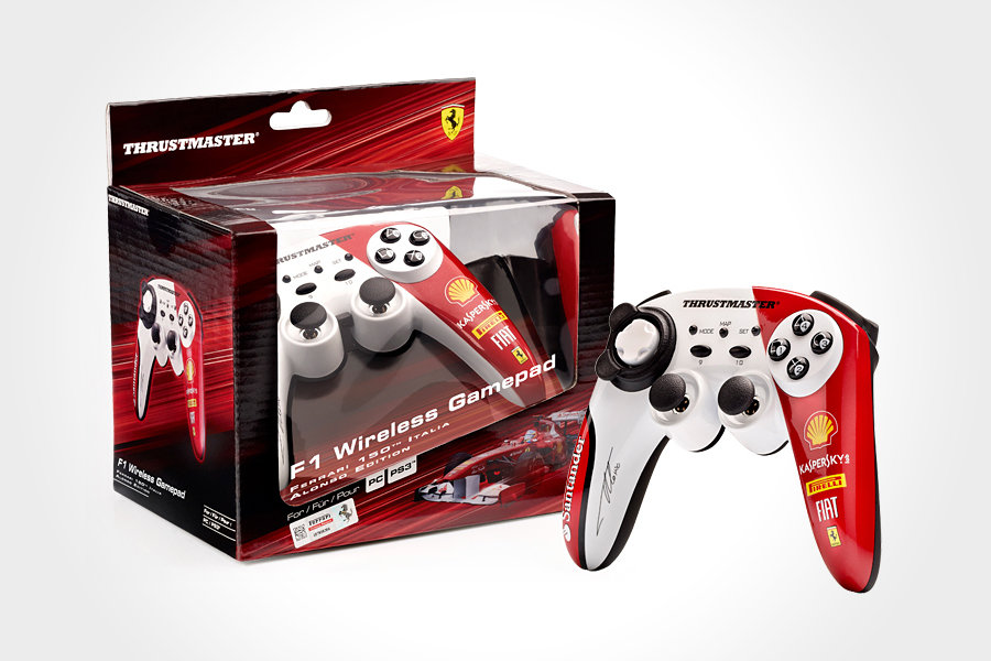 Thrustmaster F1 Wireless Gamepad Ferrari 150° Italia Alonso Edition 900x600px