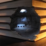 surreal book carvings by Guy Laramée
