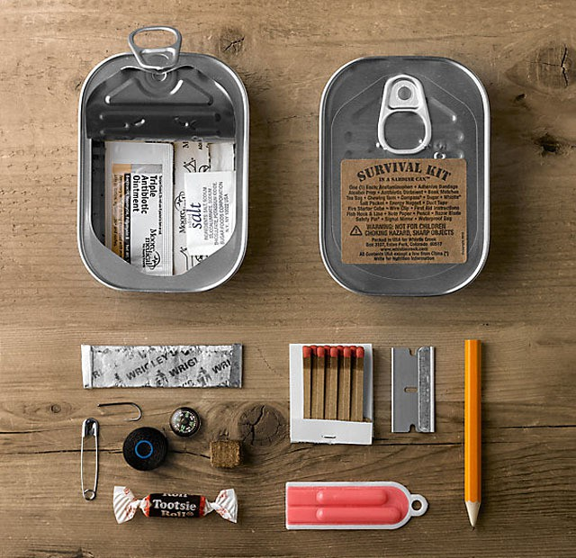 Survival Kit in a Sardine Can - MIKESHOUTS