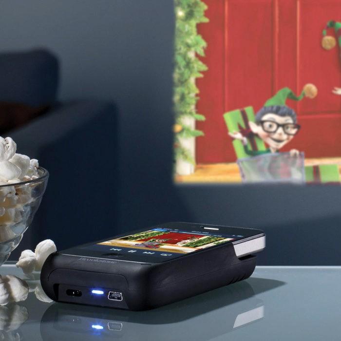 Texas instruments brookstone iphone pocket projector case for Pocket projector case
