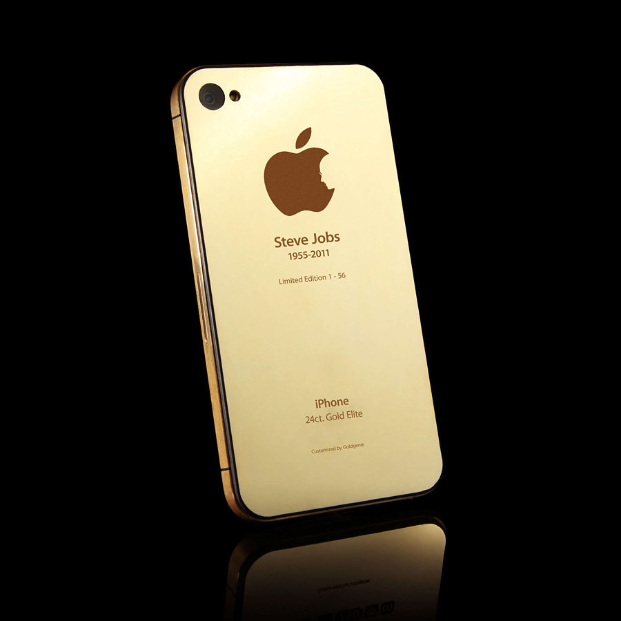 Steve Jobs Apple Logo Gold iPhone