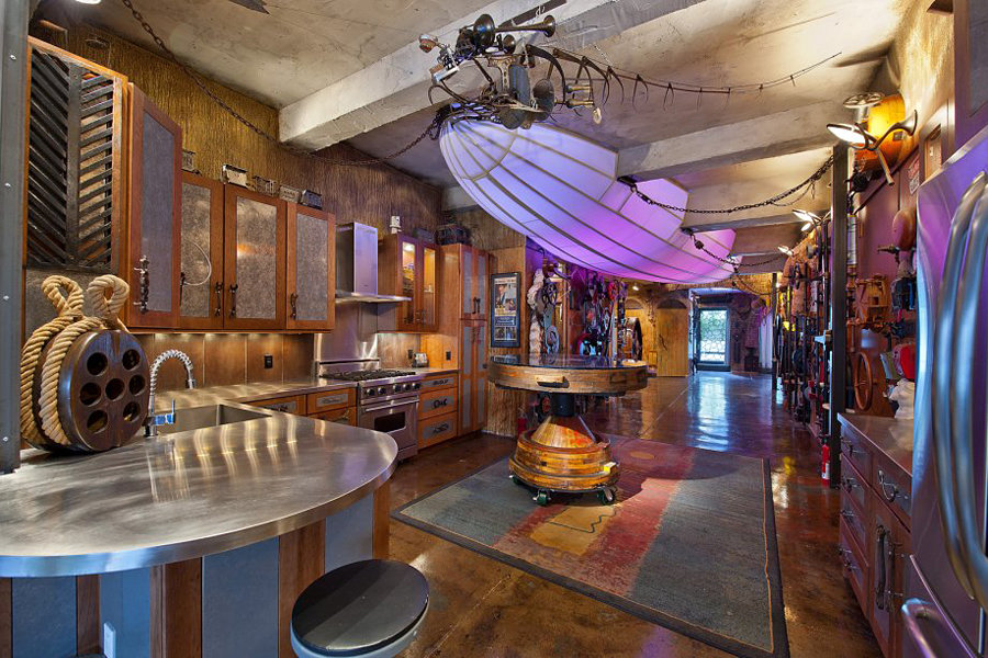 Chelsea steampunk inspired apartment mikeshouts for Steampunk kitchen accessories