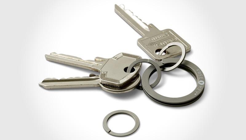 Free Key Press-To-Open Key Ring