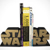 Gold Star Wars Logo Bookends