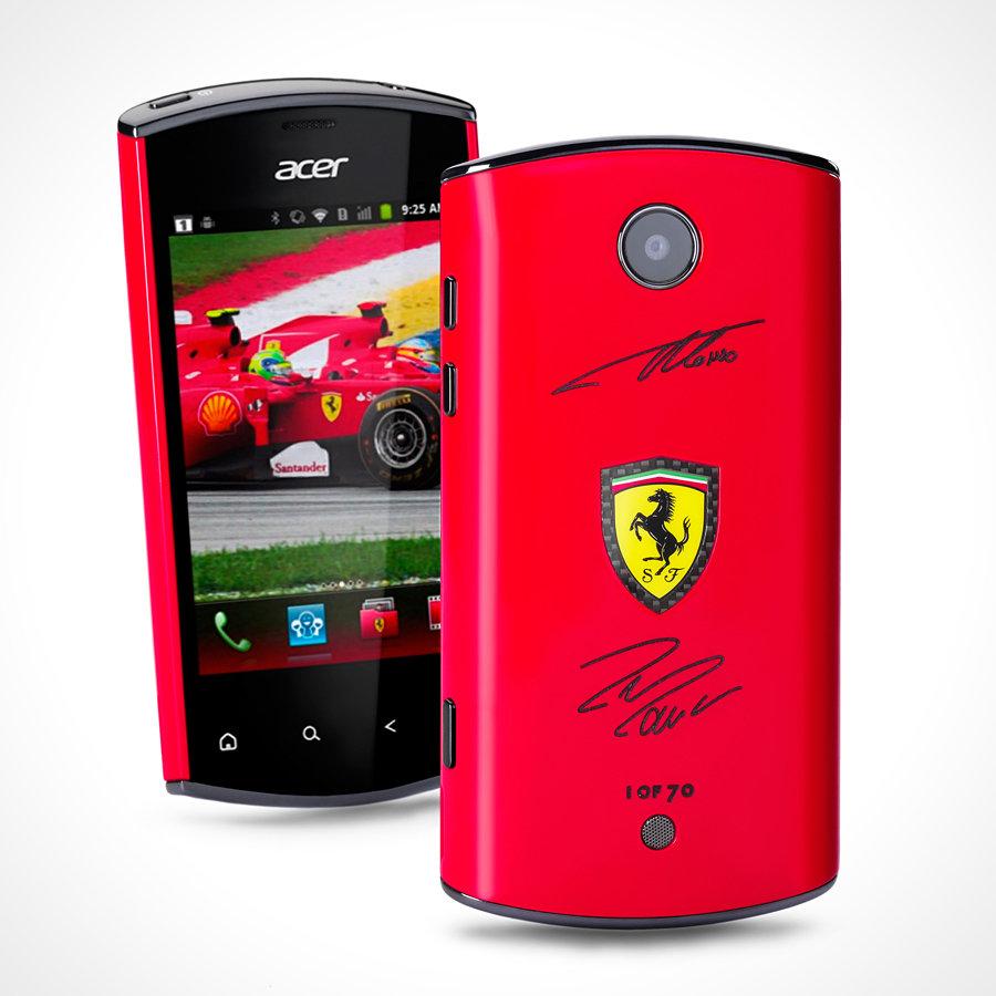 Liquid Mini Ferrari signed by Alonso and Massa