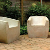 Zachary A. Design Stone Furniture - The Van Dyke Chair - Raw Finish