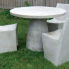 Zachary A. Design Stone Furniture - Hive Table with Stone Chairs