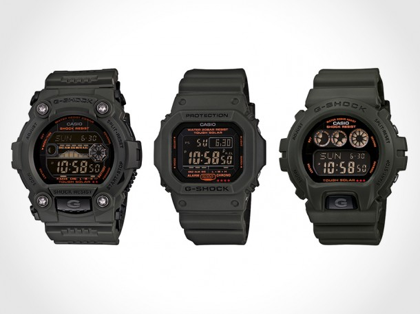 G-Shock Solar Military Green Capsule Collection