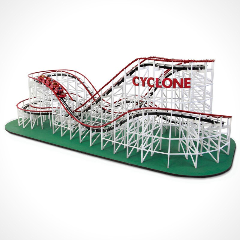 The Cyclone Scaled Classic Wooden Roller Coaster