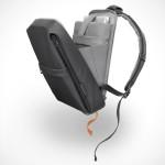 Cote&Ciel Flat Backpack Coated Techno Canvas