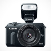 Canon EOS-M Digital Camera with optional Speedlite 90EX