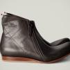 Hard Graft Mens Zip Boot All Grey