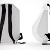 Solid Gray Backpack : white-black