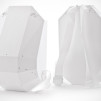 Solid Gray Backpack : white-white