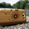 Natural Wood Cases for Samsung Galaxy S III Bamboo Camera