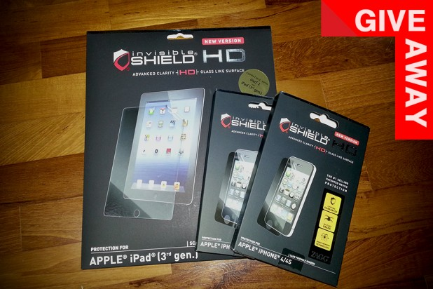 GIVEAWAY: ZAGG Invisible Shield for iPad and iPhone 4/4S