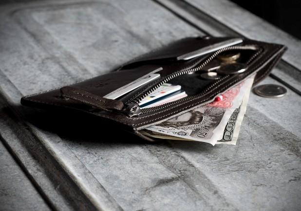 Hard Graft Zip Wallet All Grey