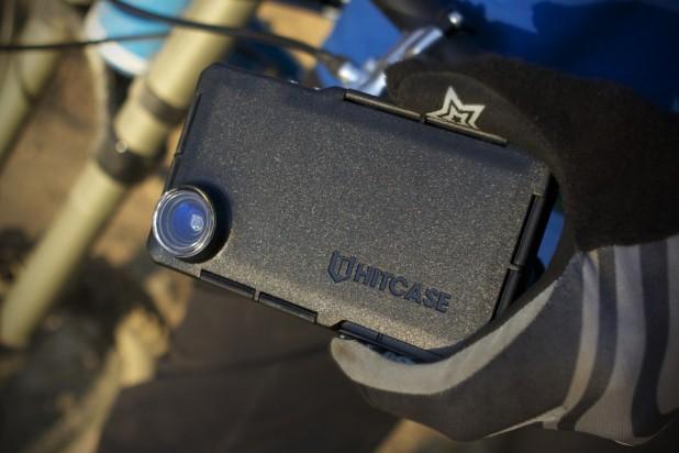 Hitcase Pro on bike handlebars