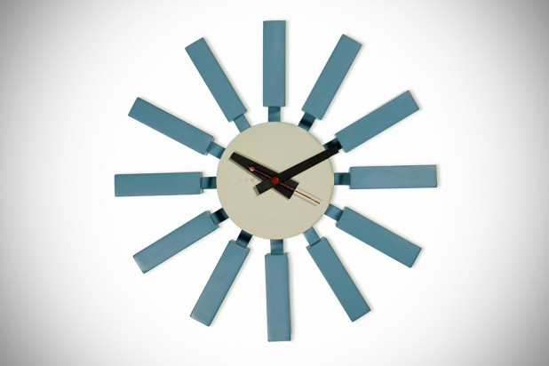 Blue Block Wall Clock by George Nelson