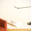 Harvey LED Task Lamp Satin Black in Living Room