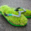 KUSA Synthetic Grass Flip Flops