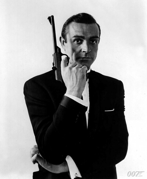 Sean Connery as James Bond with Walther Air Pistol