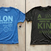 Cities T-Shirts by Pilot and Captain London-LON and Kingston-KIN