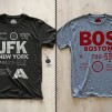 Cities T-Shirts by Pilot and Captain New York-JFK and Boston-BOS